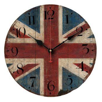 Splended британский стиль старинные англия флаг творческий круглый настенные часы кварцевые часы
