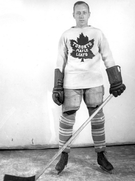 Leafs' Ace: Irvine (Ace) Bailey, shown in a 1933 photo, died in Toronto at age 88. His No. 6 uniform was retired by the Leafs. (Turofsky)