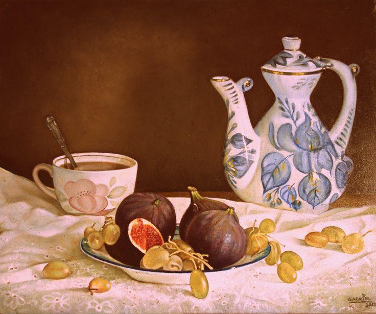 """Pintura al óleo """"Higos"""" Autor:Gabriel"""