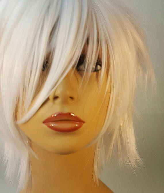 Short Platinum Blonde Wig Short White Platinum Wig with