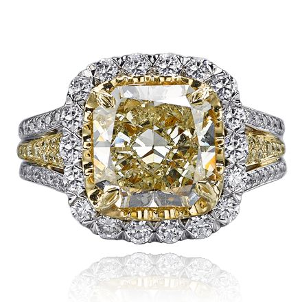 Christopher designs ring with yellow diamond center - How to get diamonds on design home ...