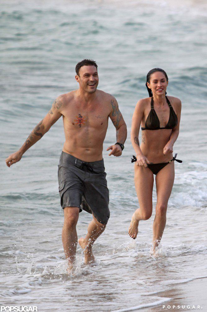 Pin for Later: Jet Set With the Best Celebrity Vacations  Megan Fox and Brian Austin Green spent the first few days of their June 2010 honeymoon on the beaches of Maui.