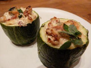Lottas kök: Getostgratinerade zucchinitorn