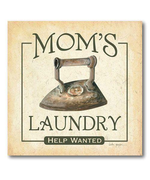 'Mom's Laundry' Canvas Art | zulily