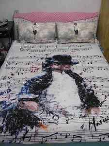 The Perfect Bed For Any Michael Jackson Fan--OMG I want this!  I am in need of a new one soon anyway :) -Keri