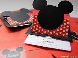 Resultado de imagen para como hacer tarjetas de invitacion para cumpleaños de mickey