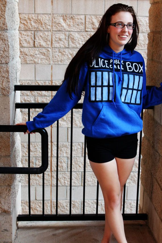 TARDIS  Doctor Who  Hoodie by TheStuntDouble on Etsy, $30.00