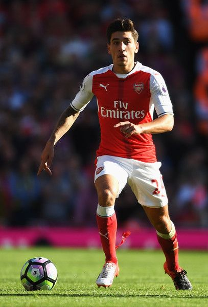 Hector Bellerin of Arsenal in action during the Premier League match between…