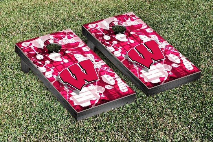 Wisconsin Badgers Fight Song Cornhole Toss Set