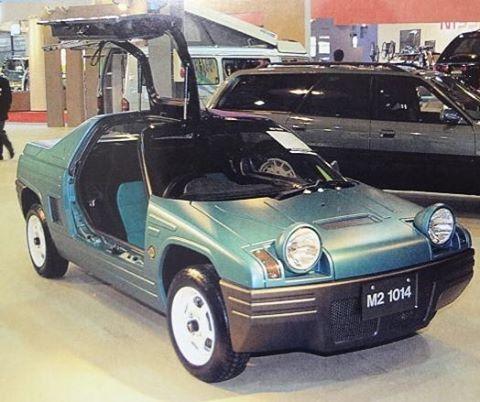 When your AZ-1 isn't goofy-looking enough already. The M2-1014 concept.  #autozam #az1 #m21014 #thejdmfiero #mazda #autozamaz1 #mazdaaz1 #jdm #kei #mazdakei #gullwing #bugeye #vwthing #mazdajapan #m2incorporated