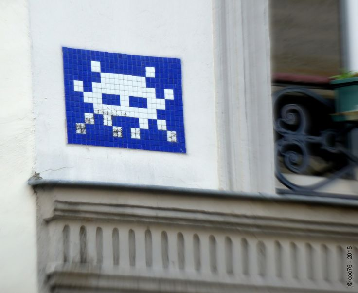 https://flic.kr/p/rSkXYU | Invader - PA_765 | Invaders in Paris! ----------------------------------- PA-765 - Rue Estrapade