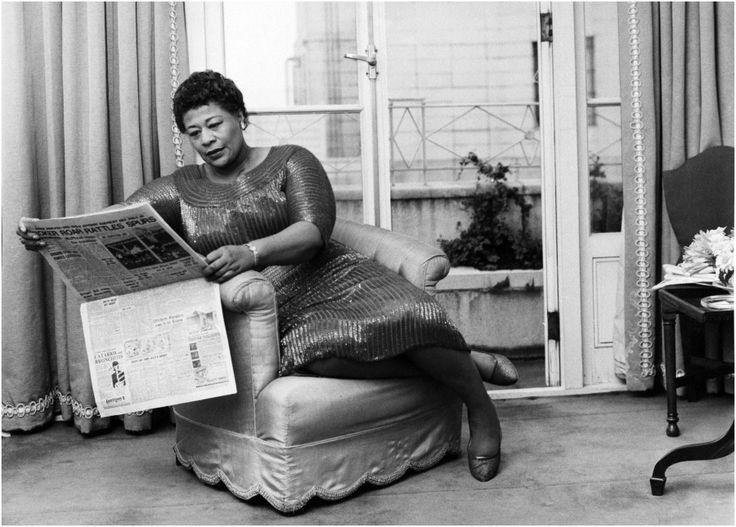 American - jazz singer Ella Fitzgerald (1917 - 1996), relaxing in a London hotel room, 6th March 1961. (Photo by Daily Express:Pictorial Parade:Archive Photos:Getty Images)