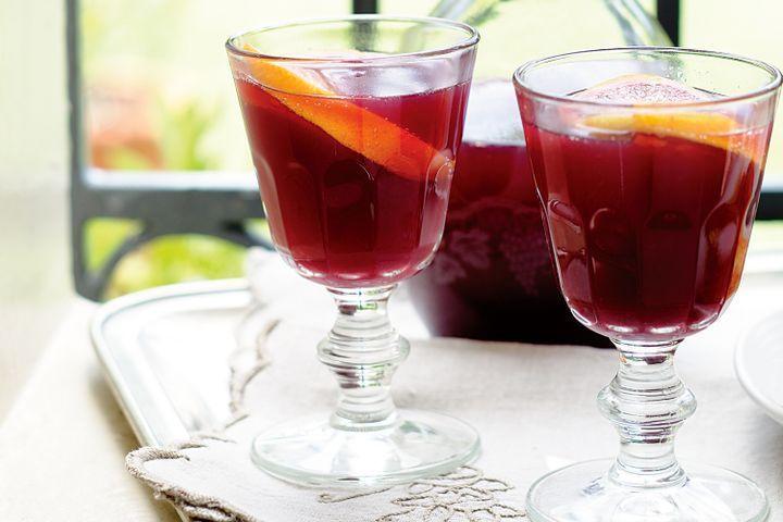 Sparkling shiraz sangria