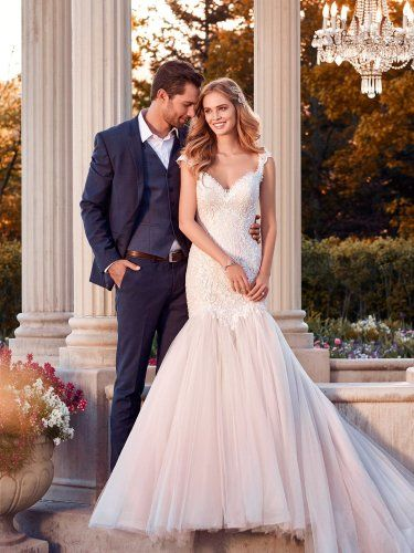 Rebecca Ingram - zelda, Beaded lace and crosshatching adorn the bodice of this wedding dress, completing the sweetheart neckline, illusion cap-sleeves and illusion scoop back. Fit-and-flare skirt features layers of soft tulle. Finished with covered buttons over zipper closure.