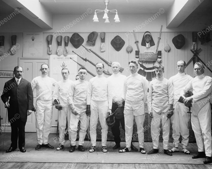 Washington Fencing Club 1915 Vintage 8x10 Reprint Of Old Photo
