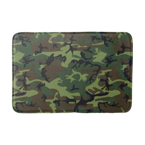 Transitional Camouflage Patterns Bathroom Mat