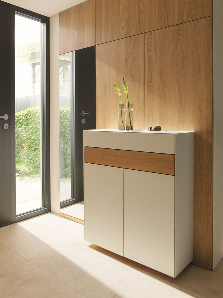 Wall mounted glass shoe cabinet CUBUS PURE | Shoe cabinet - @team7
