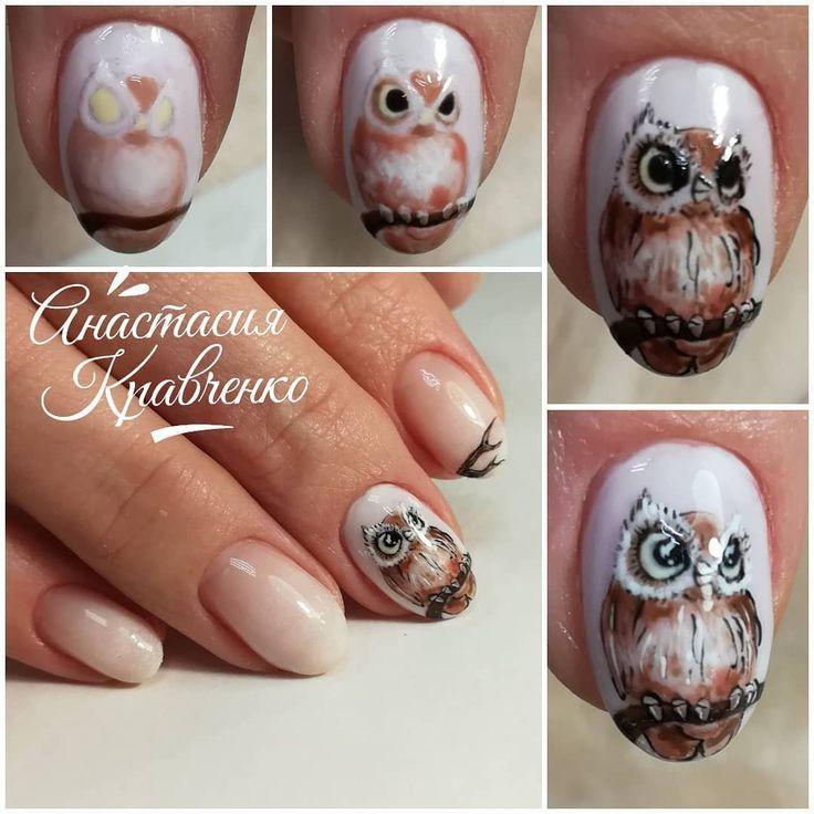 жизни новогодняя сова рисунок на ногтях фото этих