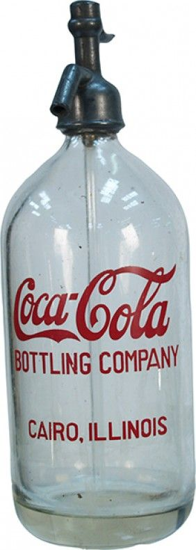 Early Coca Cola seltzer bottle.  Cute on a shelf with vintage Coca Cola glasses.  American Drugstore!
