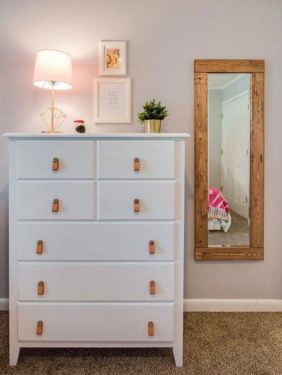 white dresser with wood accents in teen girls bedroom rh in pinterest com