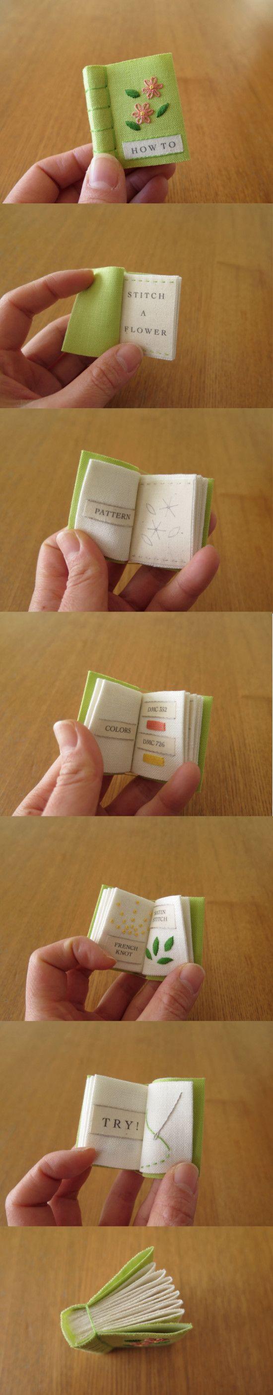 """How to Stitch a Flower.""by Yuki Sugashima who lives in Saitama, Japan."