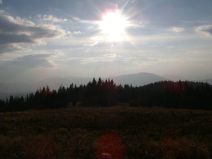 zachód słońca na Krawcowym Wierchu, październik