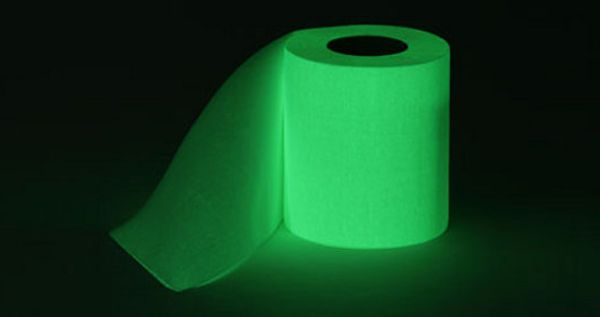 Glow in the dark Toilet Paper! I'd be scared to use this TP, but its AWESOME!