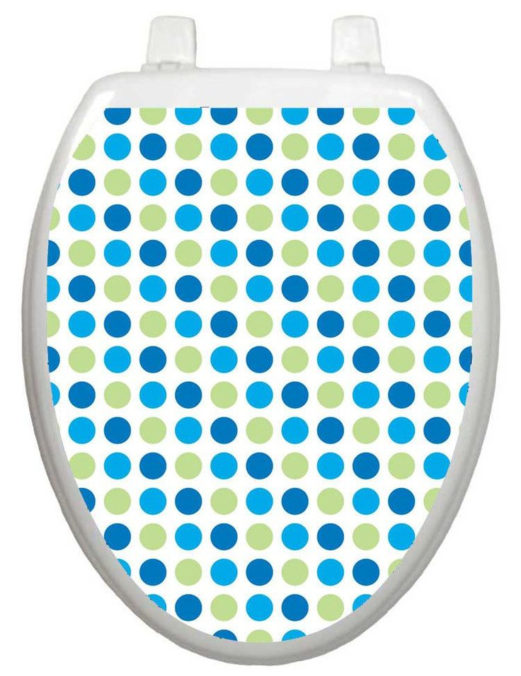Wallpaper Dot-to-Dot Blues Toilet Seat Decal