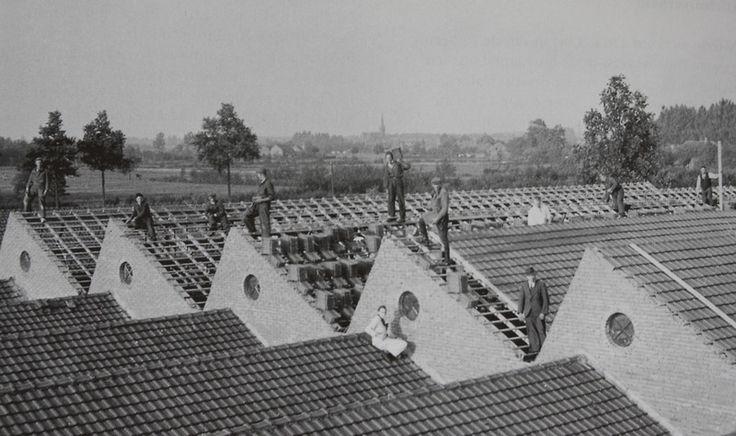 Sheddaken van de weverij van De Haes. Fotobijdrage: Archief Heemkunde vereniging Myerle