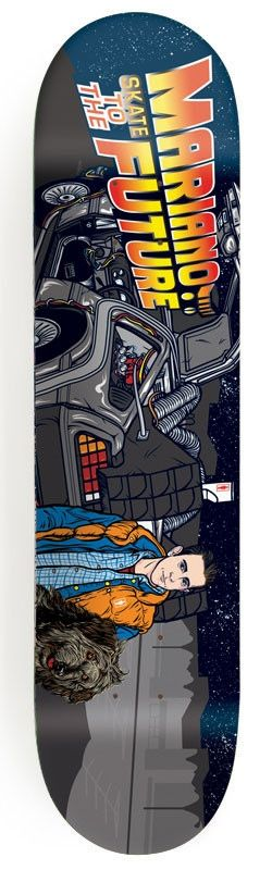 #Skateboard Girl - Guy Mariano Be Kind, Rewind Signature Deck