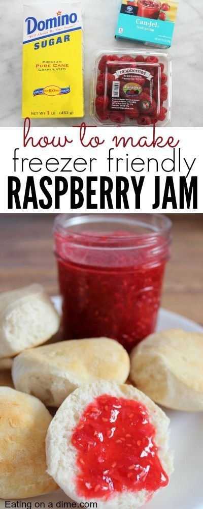 No cook Raspberry Freezer Jam that you can make in minutes. use this same recipe to make other jams like Strawberry jam!
