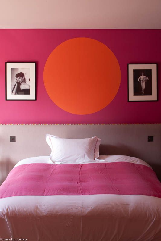 Bright pink was chosen to add drama to a teenager's bedroom  #designer #architect #interiordesign #colour #interiors #trends