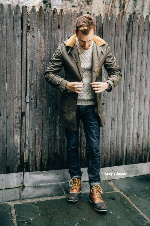 March 4, 2015.Jacket: James Modern Trench Coat - Fossil (c/o) (similar, 2, 3, 4)Sweater: H&M - $30 (old) (similar, 2)Shirt: Aspecd Apparel (c/o) (similar)Jeans: Levi's 511 in Rigid Dragon - Nordstrom - $50Boots: Sperry Top-Sider Cold Bay - $150 - JackThreads(also, 2)Watch: Stillwell in Chocolate - Jack Spade (c/o)