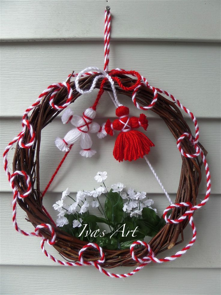 """The wreath """"Baba Marta"""" :)  On Mrch first is very interesting Bulgarian tradition for health and happyness. It is beautiful and fun.  here you can read more about the tradition and this project.  Enjoy with us! :)"""
