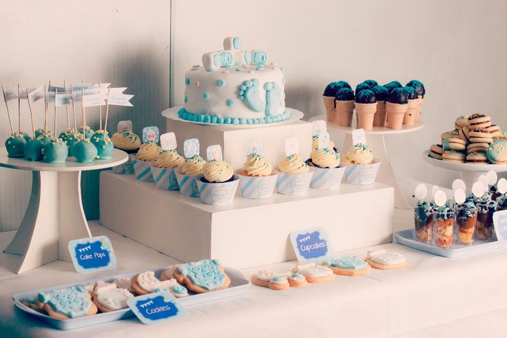 17 best images about baby shower on pinterest mesas - Mesa de baby shower nino ...