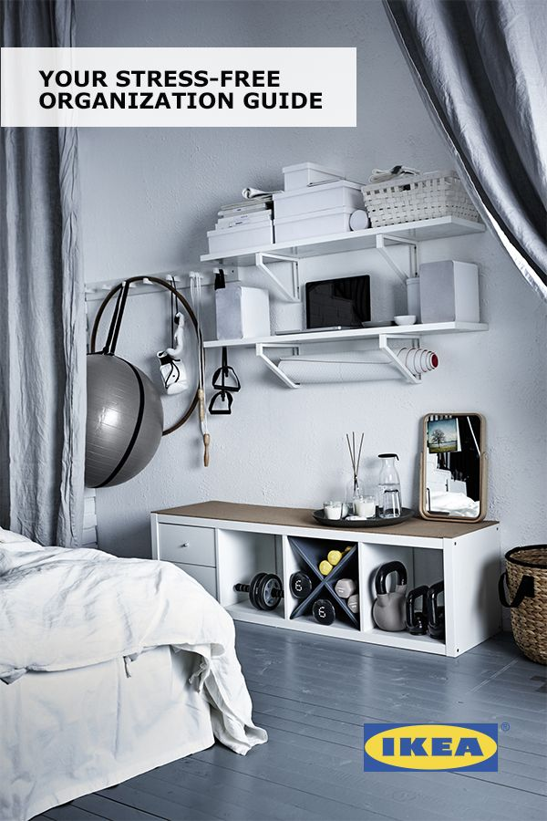 An organized home should make you feel good. Enjoying the space you've created can make you feel even better. That's why we put together Your Stress-Free Organization Guide with easy, affordable IKEA ideas to help you organize and rejuvenate your personal spaces!
