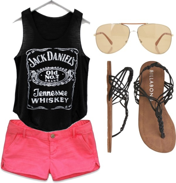 Cute look for a fun, very casual summer day. I think a southern girl could pull this look off a little better haha
