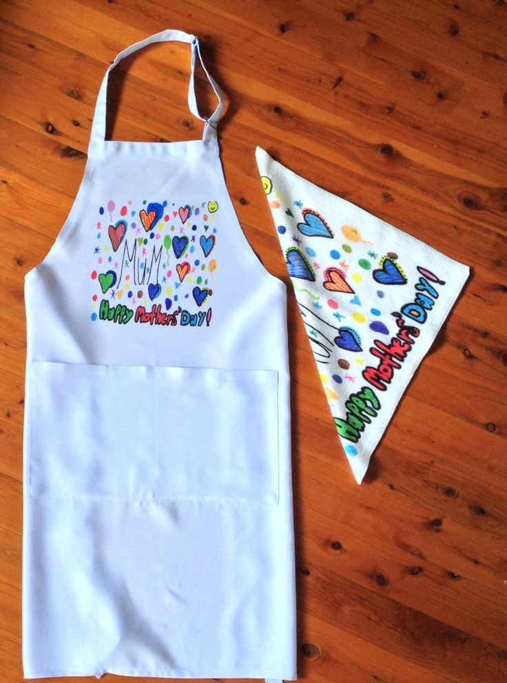 Apron and matching towel