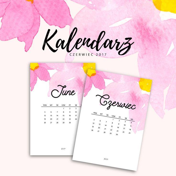 Kalendarz do druku - czerwiec 2017 {do pobrania za darmo}