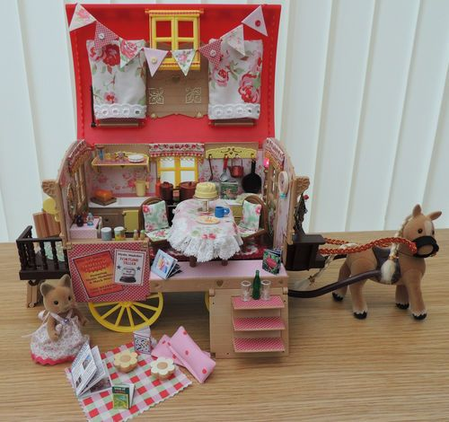 Sylvanian Families Decorated Gypsy Caravan & Pony Cath Kidston Soft Furnishings | eBay