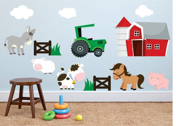 Farm Wall Decals Farm Animal Decal Horse Wall Decal Animal