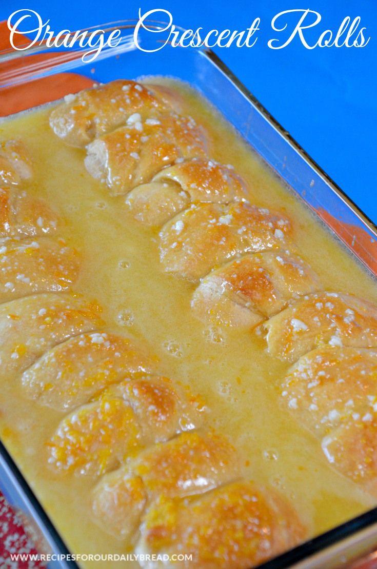 Orange Crescent Rolls  http://recipesforourdailybread.com/2014/10/17/orange-crescent-rolls/  #breakfast #rolls