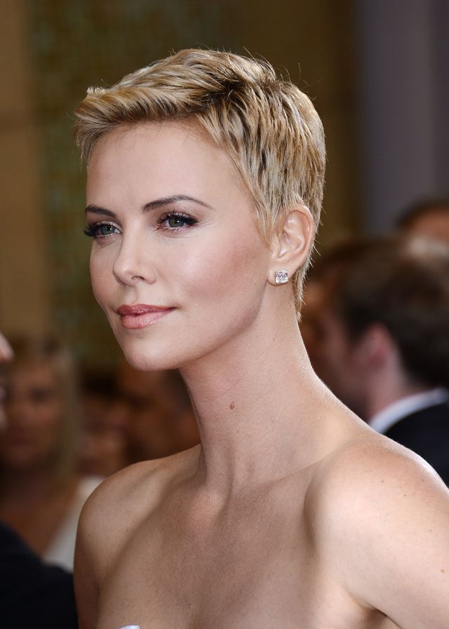 Pixie Haircuts for Women Over 50 | Charlize Theron's Pixie Cut at the 85th Annual Academy Awards