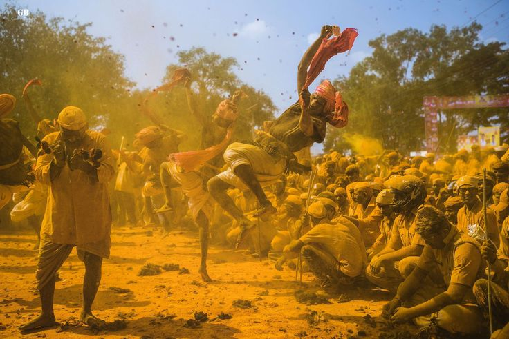 Ritual called Gaj Nrutya (Elephant dance), Diwali festival, Maharashtra.