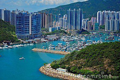 View of aberdeen, hong kong, from the ocean park