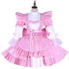 PVC lockable Sissy maid dress Unisex  tailor-made[G1650]