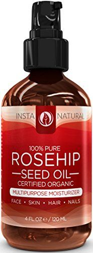 ORGANIC Rosehip Oil - 100% Pure & USDA Certified -HUGE 4OZ- Great Moisturizer for Skin, Hair, Stretch Marks, Scars, Discoloration, Wrinkles & Fine Lines - BEST Unrefined, Cold Pressed Virgin Rosehip Seed Oil For Face and Skin - Guaranteed Results InstaNatural http://www.amazon.com/dp/B00IP42FBA/ref=cm_sw_r_pi_dp_uX0Fub1GVZE94