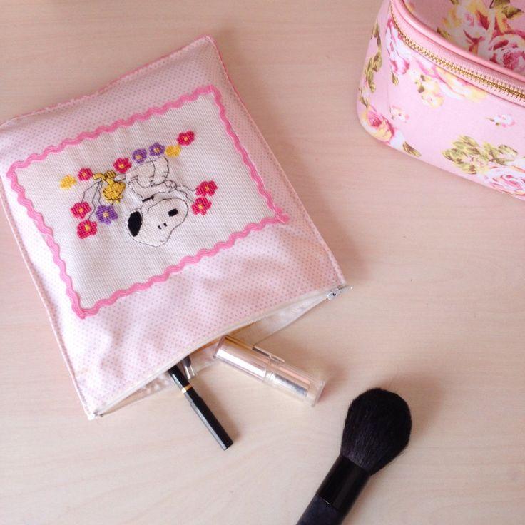Makyaj Çantası Dikiyoruz! / We sew makeup bag!