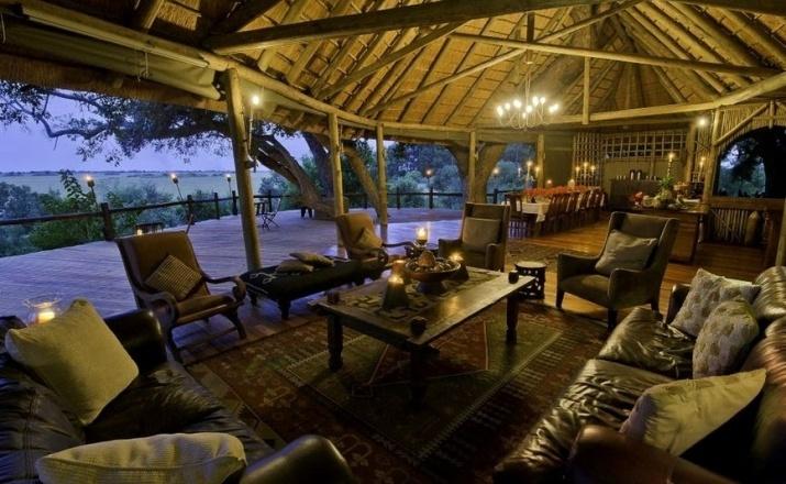 Traum Lodge mit Blick auf die unendlichen Weiten der Steppe Botswanas