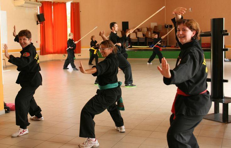 L'ambiance d'un club d'art martial traditionnel vietnamien